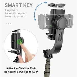 Image 5 - Auto Draaibare Bluetooth Handheld Gimbal Stabilizer Mobiele Telefoon Selfie Stok Houder Verstelbare Statief Stand Voor Iphone/Huawei