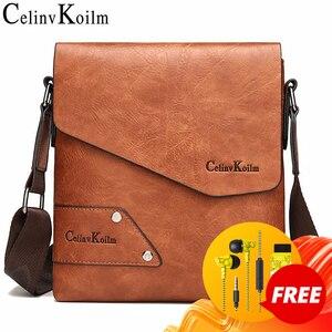 Image 1 - Celinv Koilm Man Messenger Bag 2 Stuks Sst Hot Koop Nieuwe Crossbody Schoudertassen Voor Mannen Business Casual Hoge kwaliteit Lederen Tote
