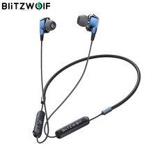 [Dual Dynamische Drivers] Blitzwolf Bluetooth 5.0 Oortelefoon Draadloze Nekband Magnetische Sport Oordopjes Met Microfoon Wired Controle