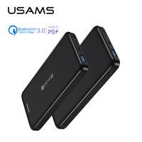 Cep telefonları ve Telekomünikasyon Ürünleri'ten Taşınabil. Güç Kay.'de Hızlı taşınabilir güç bankası  USAMS 10000mah PD hızlı taşınabilir güç bankası QC 3.0 PowerBank C tipi USB iphone şarj cihazı Xiaomi 9 Samsung