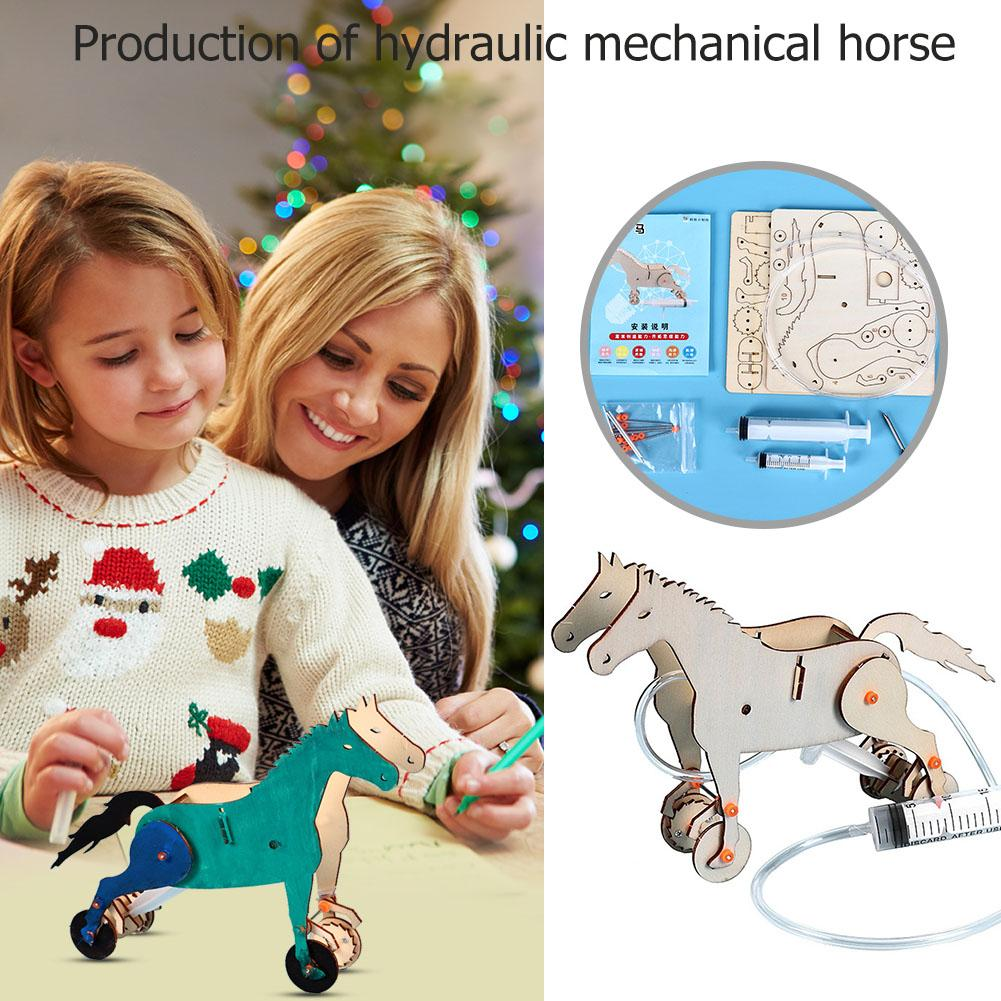 Assembly DIY Mechanical Horse Materials Kit Training Hand Eye And Brain Coordination Lovely Fun Model Educational Toys