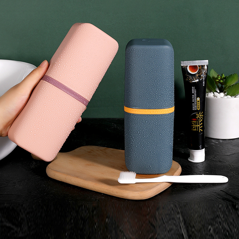 Travel Portable Toothbrush Toothpaste Holder Storage Case Box Organizer Household Storage Brush Tooth Cup Bathroom Accessorie