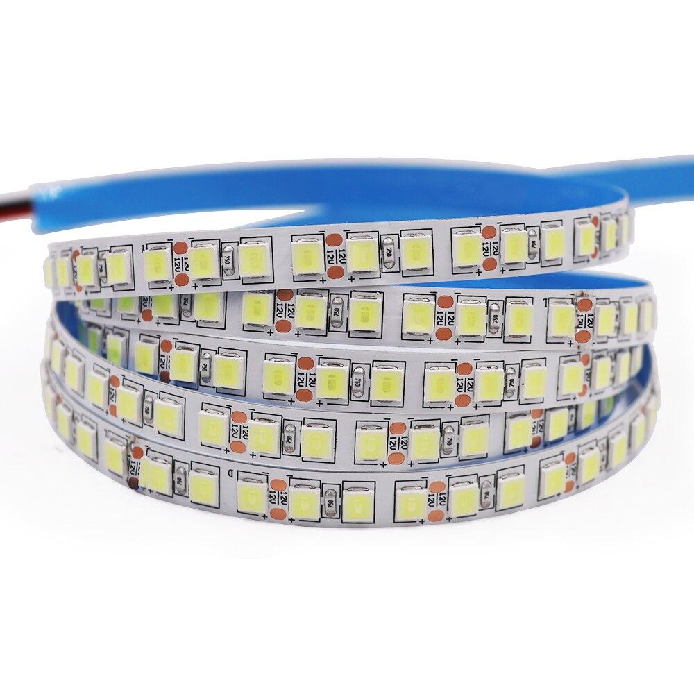 5 м/лот 12 В постоянного тока 5054 супер яркая белая/фотолампа 60 светодиодов/м 120 светодиодов/м водонепроницаемая гибкая светодиодная лента
