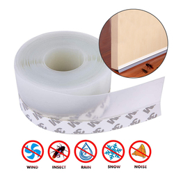 5M Door Bottom Seal Strip Weather Window Rubber Seal Weatherstrip Windproof Dust Self Adhesive Door Windshield Sealing Tape