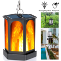 96LED Solar Lantern Lights Dancing Flame Waterproof, Outdoor Hanging Lanterns for patio Wall lights Landscape Lights