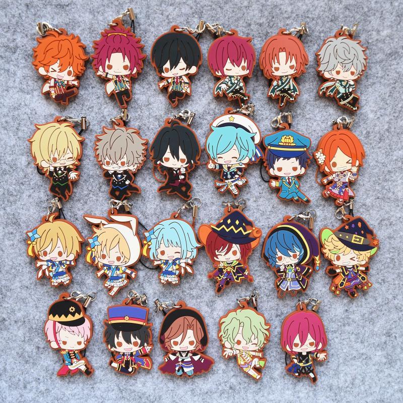 Ensemble Stars Anime Sena Izumi Knights Sakuma Rei Akehoshi Ran Nagisa Subaru Mashiro Tomoya Mika Harukawa Sora Rubber Keychain