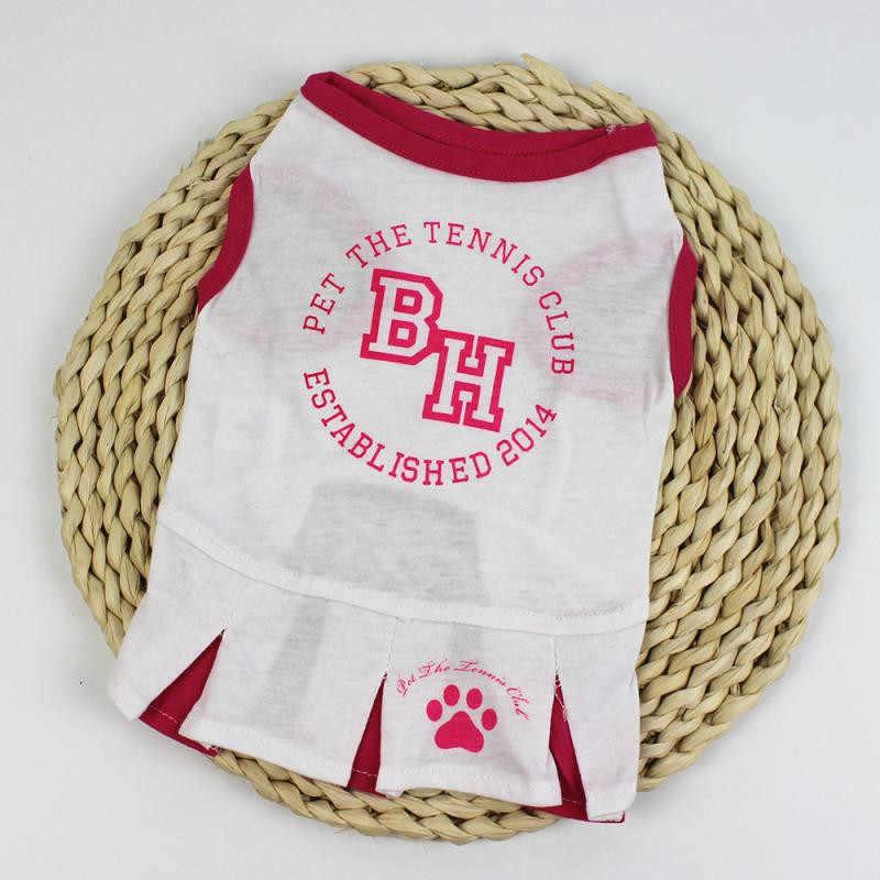 خليط الرياضية نمط جرو اللباس الملابس الصغيرة الكلب الصيف ارتداء ملابس الصيف سترة تنورة لطيف الكلب ارتداء الملابس قميص # b15