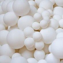 자이언트 화이트 라운드 풍선 5/18/36 inch 웨딩 라텍스 헬륨 파스텔 매트 순수한 흰색 Baloes 아치 갈 랜드 생일 장식