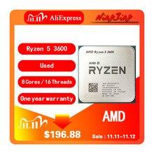 AMD Ryzen 5 3600 R5 3600 3.6 GHz Zes Core Twaalf Draad CPU Processor 7NM 65W L3 = 32M 100 000000031 Socket AM4