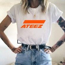 New Women T-shirt Kpop Group ATEEZ Top Female T Shirts Harajuku 90s Cartoon Streetwear Ladies Short Clothes