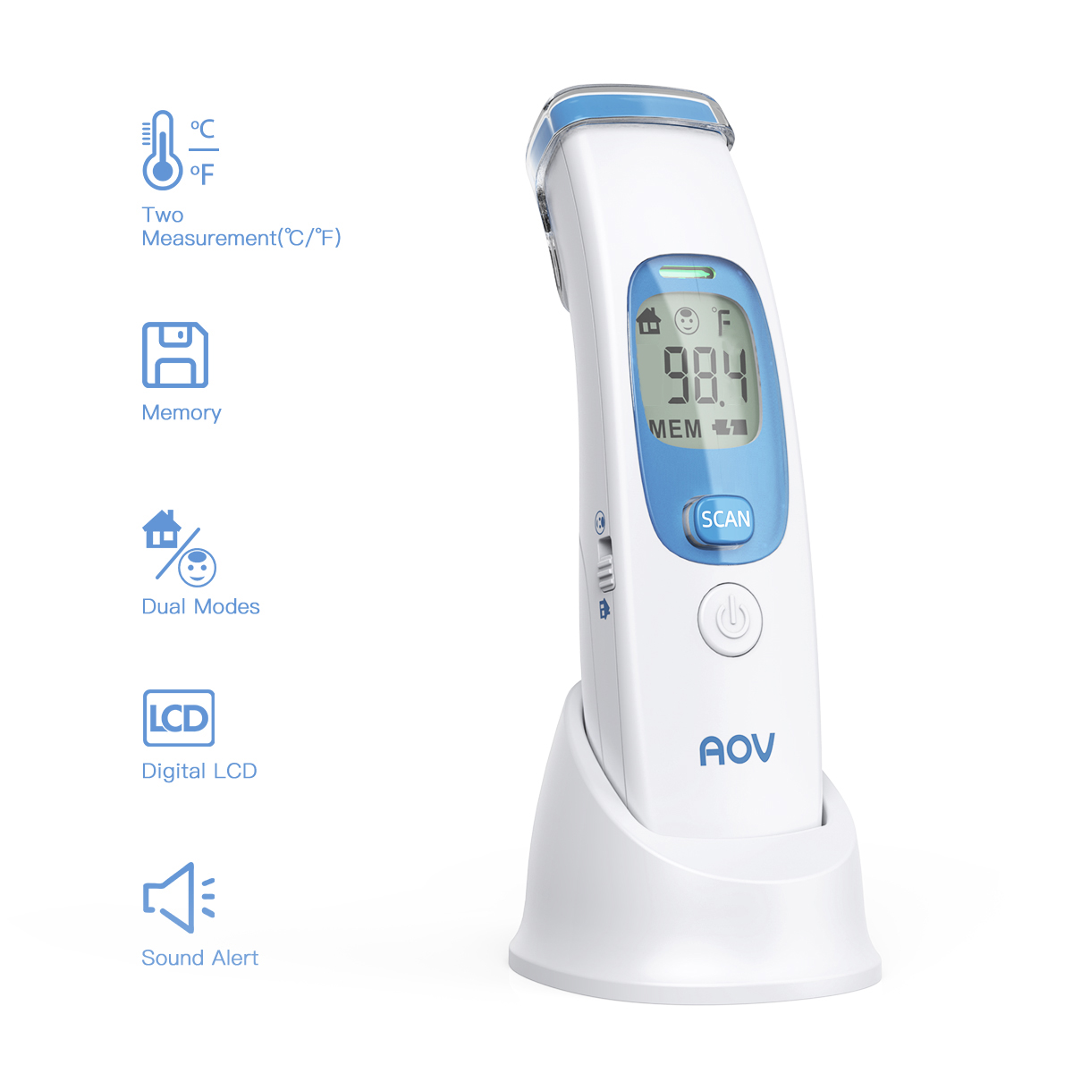 Digital Temperature Meter Gun Infrared Temperature IR Non Contact Temperature Measurement 4 Setting Modes For Baby Adults