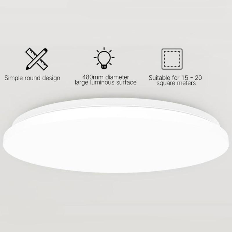 Yeelight YILAI 480 LED Smart plafonnier Simple lampe ronde pour la maison APP/voix/télécommande 32W 220V 2200lm éclairage intérieur - 2