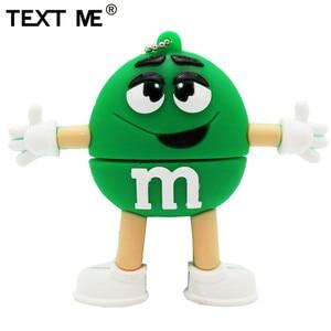 Image 5 - Usb флеш накопитель TEXT ME, 64 ГБ, красный, розовый, зеленый, синий, мультяшный M bean, usb 2,0, 4 ГБ, 8 ГБ, 16 ГБ, 32 ГБ, стандартный usb
