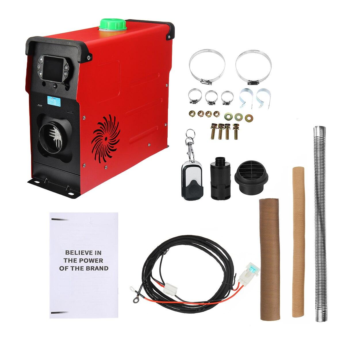 calentador de autom/óvil de un solo orificio M/áquina de aire acondicionado Calentador de estacionamiento todo en uno para autocarav con control remoto y pantalla LCD Calentador de aire di/ésel 12V 8KW