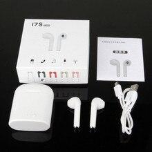 Bezprzewodowe słuchawki Bluetooth 5.0 I7S TWS redukcja szumów True Twins słuchawka Stereo z etui z funkcją ładowania do telefonu PC