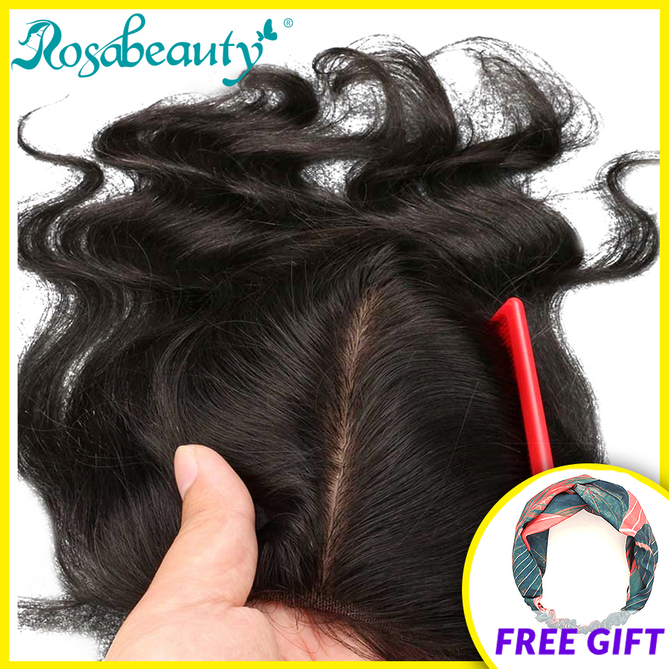 Rosa Beauty Silk Base Closure Body Wave Wave 4x4 Remy Human Hair Closure Bleached Knots Nature Color Free Shipping