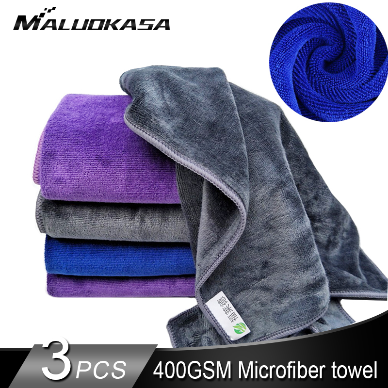 Car Wash Microfiber Towel 400 GSM Soft Absorbent Car Cleaning Detailing Drying Cloth Hemming 400GSM Home Window Car Care Rags