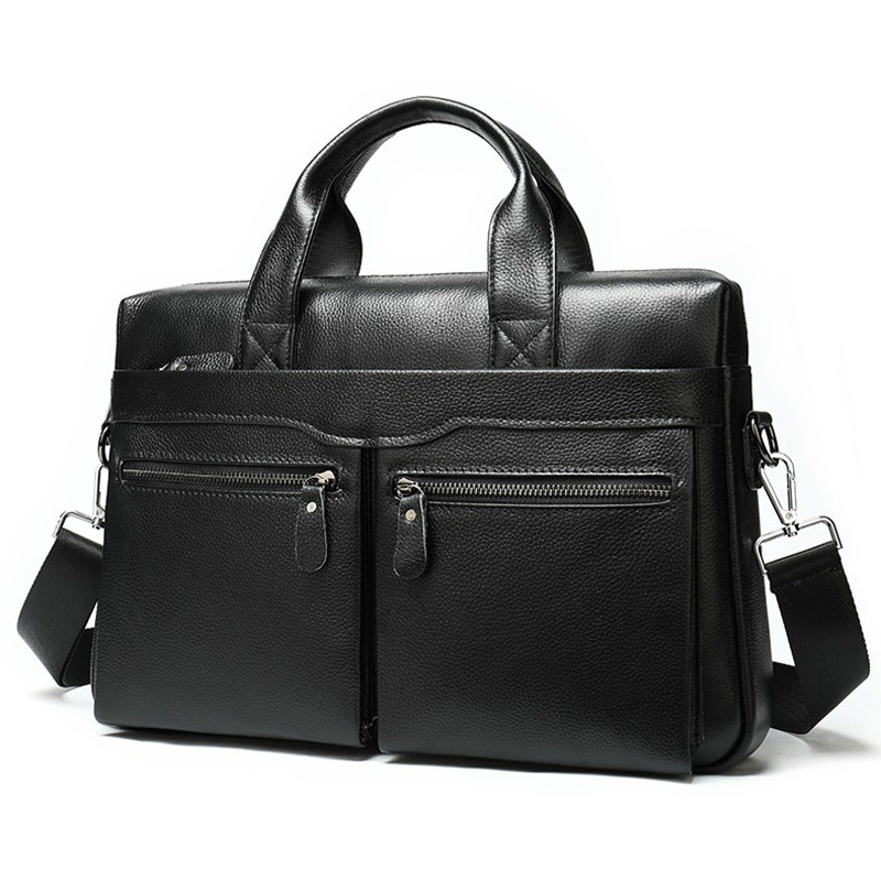 2020 Men's Briefcase Leather Laptop Bag Men's 100% Genuine Leather Office Bag For Men Business Men's Bag For Document Tote