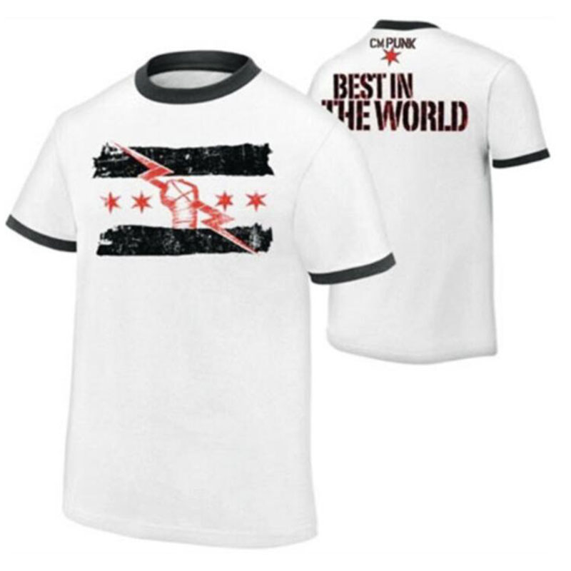 Summer New Short Sleeve Wrestling CM Punk Best Since The Day One Of The Men Printed T-shirt 2020 Men T-shirt European Size S~XL