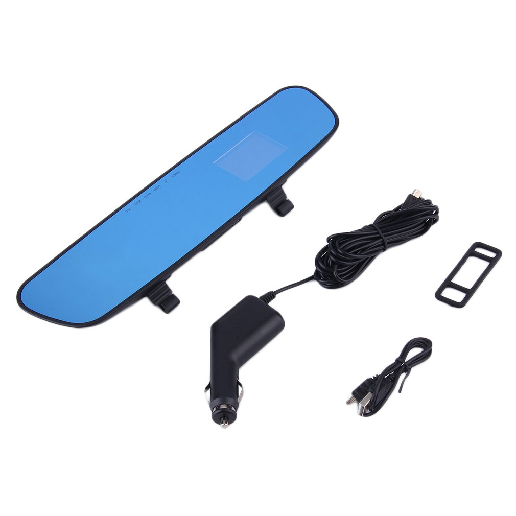 2.4'' 120 Degree Full 1280 * 720HD Mirror DVR Car Camera Recorder Dash Cam Videos Rear View Blue Wave Infrared Night Vision