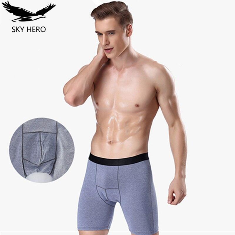 Long Boxers Men Breathable Cotton Boxer for Men Soft Mens Underwear Men Boxershorts Male U-convex US Size L XL XXL XXXL 4XL