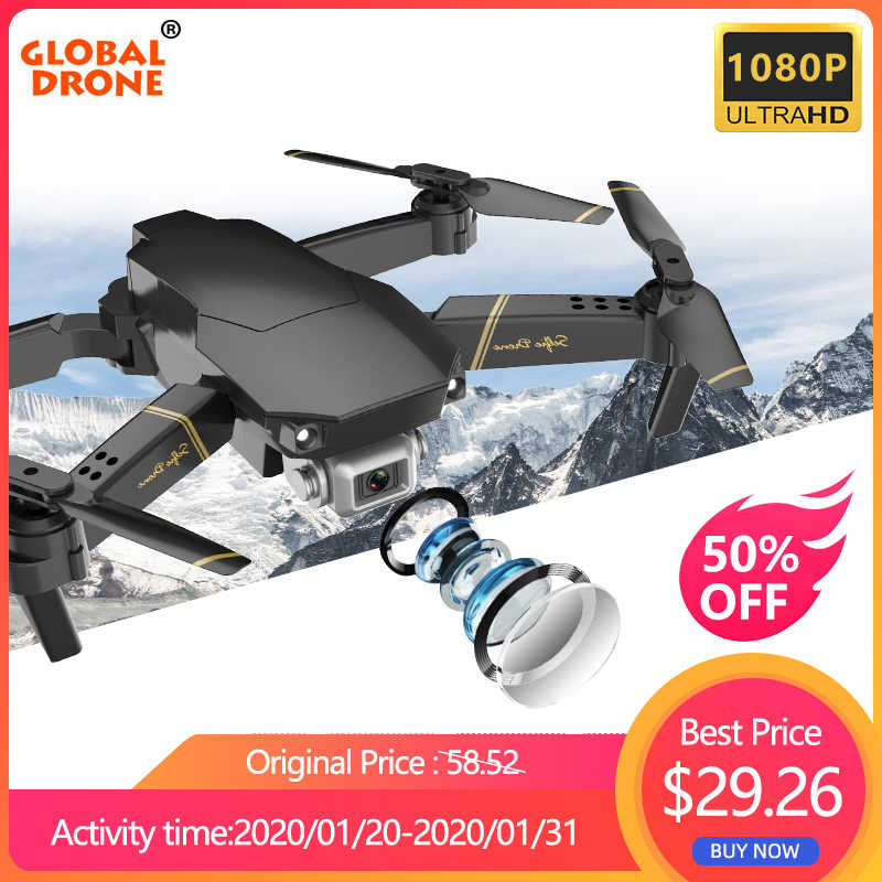 Global Drone EXA Foldable RC Drone dengan Kamera HD Mini Quadcopter Tinggi Tahan Helikopter Juguetes Quadrocopter Drone Vs E58 E520