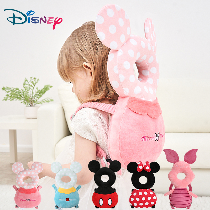 Disney Baby Head Back Protector Safety Pad Pillow Infant Toddler Harness Headgear Bear Rabbit Baby Head Protection Pad Cute New