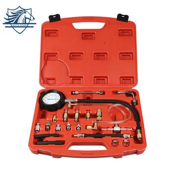 0-140 PSI pompa wtryskowa Tester wtryskiwaczy manometr benzyna tanie i dobre opinie CN (pochodzenie) TU114 0-140 PSI (0-10 Bar) M10 M12 M14