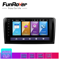 Funrover IPS+2.5D android9.0 car dvd player For Mercedes Benz ML W164 W300 ML350 ML450 GL X164 G320 GL350 GL450 GL500 gps navi