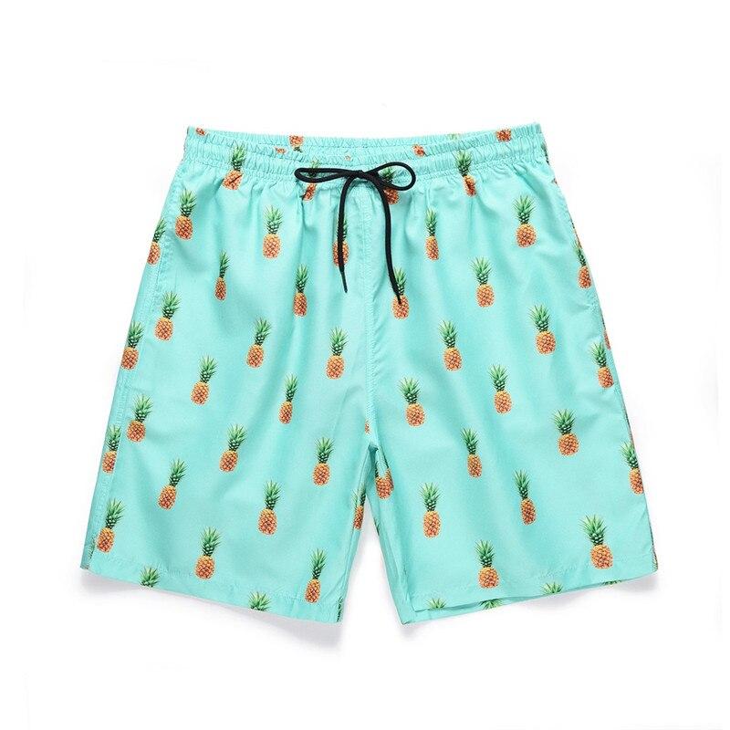 COVASA Mens Summer ShortsIsland Themed Minimalistic Multi-Sized Tropic Fruity