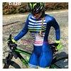 Rosa de manga longa camisa ciclismo skinsuit 2020 mulher ir pro mtb bicicleta roupas opa hombre macacão gel almofada skinsuit 7