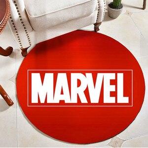 Marvel 3D Print okrągły dywan flanelowy łazienka mata antypoślizgowa dywan do składania do salonu miękka mata do sypialni dla dzieci