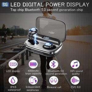 Image 4 - TWS Bluetooth V5.0 이어폰 무선 헤드폰 소음 차단 IPX6 방수 6D 스테레오 스포츠 헤드셋 이어 버드 4000mAh 전원