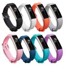 Silicone macio substituição relógio banda pulseira de pulso para fitbit alta hr inteligente impresso silicone pulseira ajustável transporte da gota