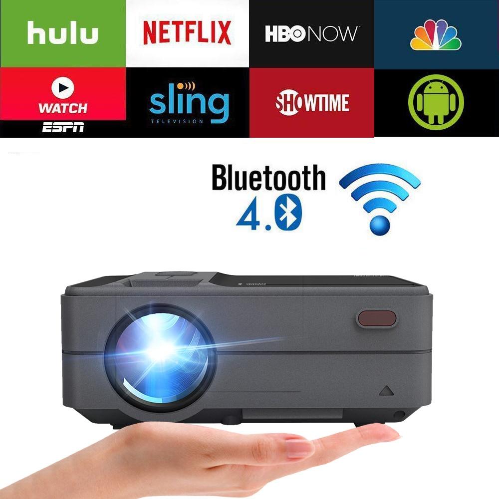WiFi intelligent Bluetooth Android Portable petit Mini projecteur soutien Full HD 4K vidéo cinéma maison Heimkino HDMI VGA Beamer