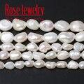 3A качество 100% натуральным жемчугом ожерелье из пресноводного культивированного, украшенные белыми жемчужинами вертикальный перфорирован...