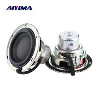 AIYIMA 3.5 Inch 92MM Subwoofer Speaker 4 Ohm 30W Large Stroke Deep Bass Neodymium Woofer Loudspeaker for Harman Kardon 2PCS