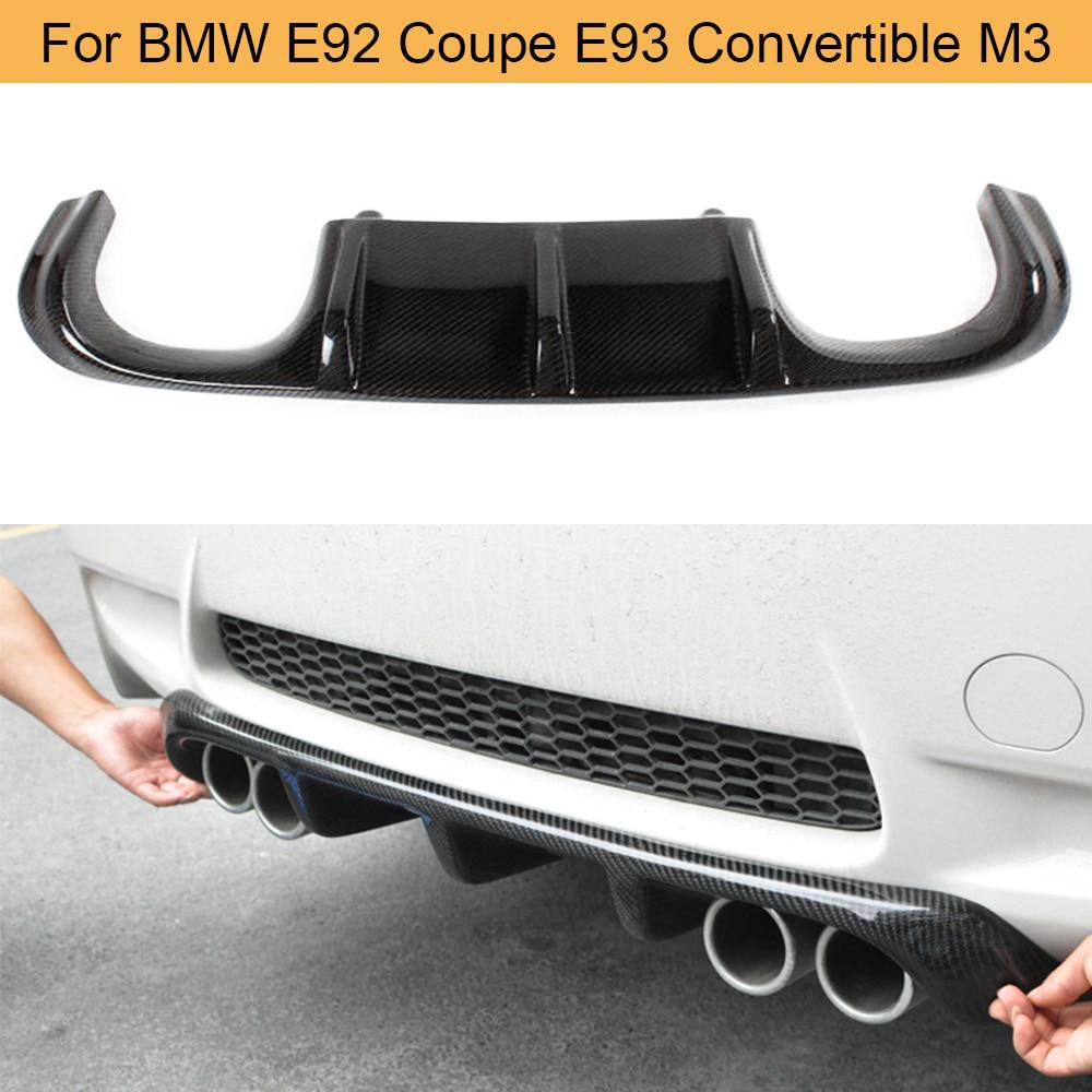 GTS Type Carbon Fiber Rear Bumper Diffuser fit BMW E92 E93 M3 Coupe Convertible