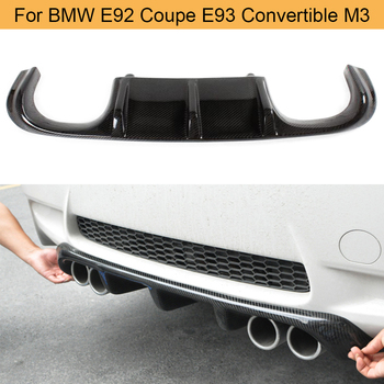 Car Rear Bumper Diffuser Lip Spoiler for BMW E92 Coupe E93 Convertible M3 2008 - 2013 Rear Diffuser Carbon Fiber / Black FRP image