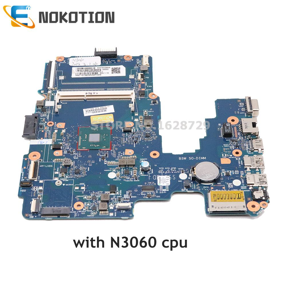 NOKOTION 858040-001 858040-501 Mainboard For HP 14-AM Laptop Motherboard 6050A2823301-MB-A01 SR2KN N3060 CPU DDR3 Full Tested