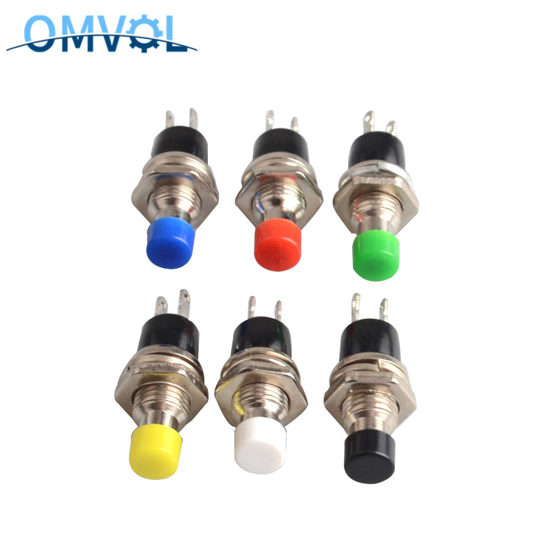6pcs NC/NO Normally Closed Momentary Self-resetting Push Button Switch  Without Lock Reset Switch