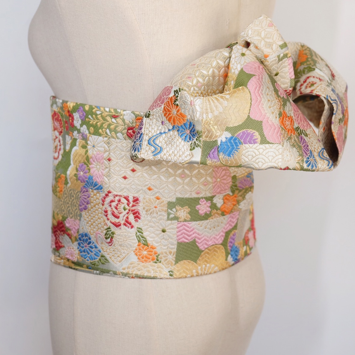 Original 2019  Kimono Accessories Japanese Style Floral Print  Waist Belt