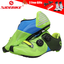 SIDEBIKE Professional Cycling Shoes Road Carbon Cycle Breathable Ultralight Triathlon Racing Bike for Men and Women