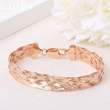 Italian 925 Sterling Silver Rose Gold Plated Thread Weave Bracelets Fine Jewelry For Women Trendy Valentine's Day Gift