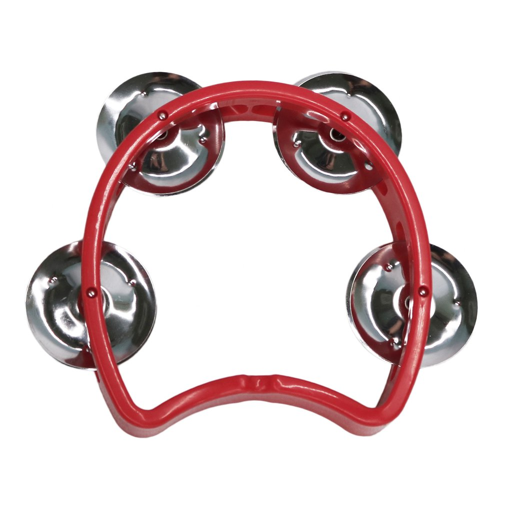 Orff World Compact Half Moon Tambourine Orff World Children Handbell Percussion Instrument Durable Early Education Musical Toy