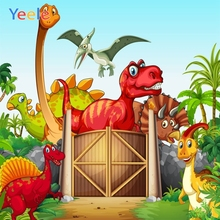 Yeele Cartoon Dinosaur Backdrop Newborn Baby Shower Portrait Vinyl Photography Background For Photo Studio Photocall Photophone