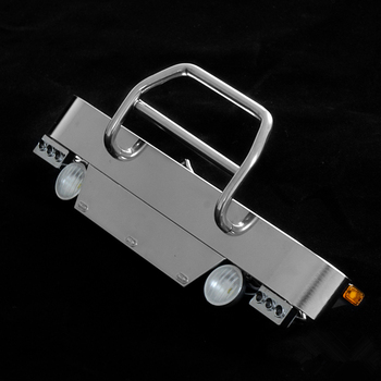 1/14 Rc American Truck King Front Bumper Protector Guard Bar With Light For Tamiya Tractor LESU Model
