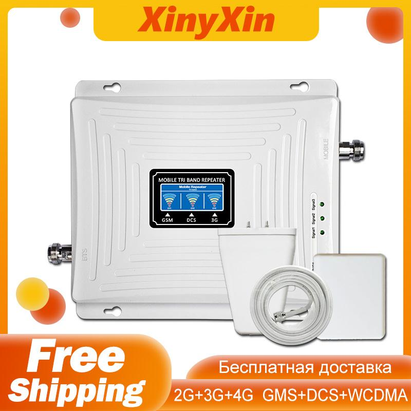 Repeater GSM 2G 3G 4G Cellular Amplifier Booster Mobile Phone 900 DCS LTE 1800 WCDMA 2100 Tri Band Cell Phone 4g Signal Booster