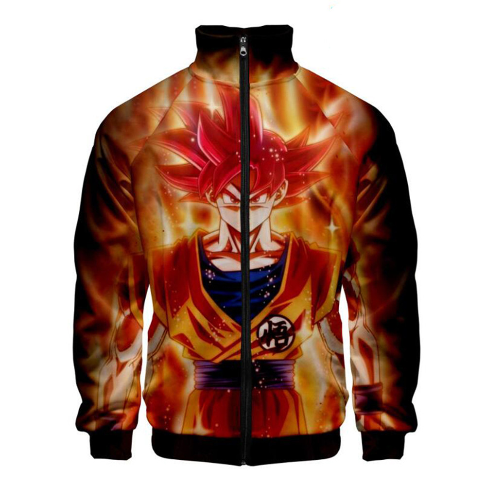 Anime Dragon Ball Goku 3D Jacket Men Women Harajuku Hip Hop New Style Sweatshirt Coat Casual Stand Collar Zipper Jackets Clothes