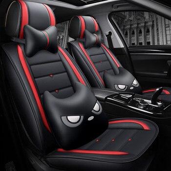 Full Coverage Eco-leather auto seats covers PU Leather Car Seat Covers for Kia sportage mohave borrego sorento kx7 venga